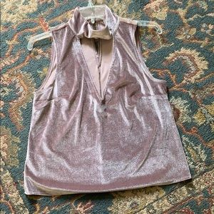 NWOT Charlotte Russe Dusty Pink Suede Top Size M